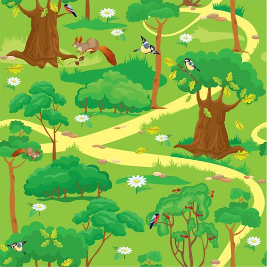 [키즈파람현수막]-숲속배경현수막-023